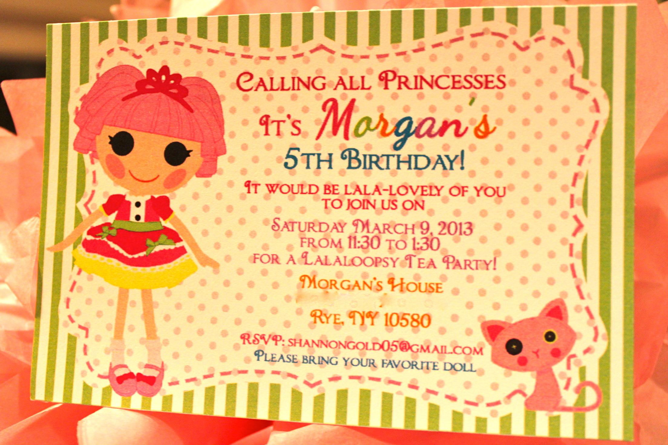 Lalaloopsy – Lalaloopsy Birthday Invitation